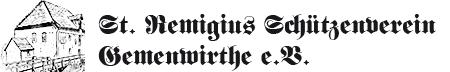 St. Remigius Schützenverein Gemenwirthe e.V. Logo